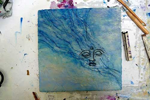 Blue-face